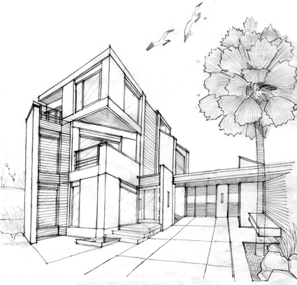 Sketch design uniquely design for your desire for House sketches from photos